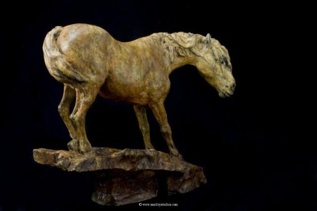 16Maureen S. Riley horse sculpture